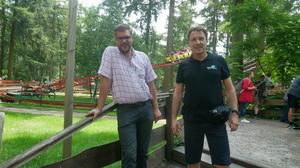 Geschäftsführer Bastian Lampe und Andrej Woiczik im Gespräch (v.l.n.r.)