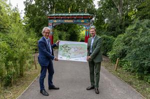 Vorstellung der Baupläne für das Himalaya-Gebirge im Tierpark Berlin