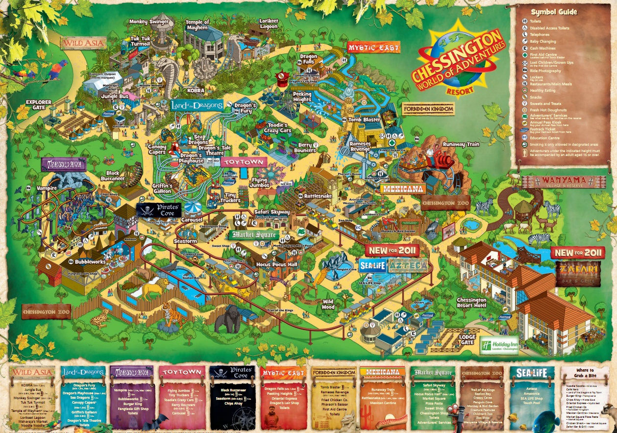 Chessington World Of Adventures Car Park Map
