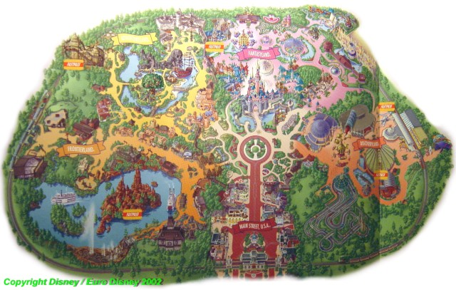 Map 2002 Related Keywords & Suggestions - Disneyland Map 2002 ...