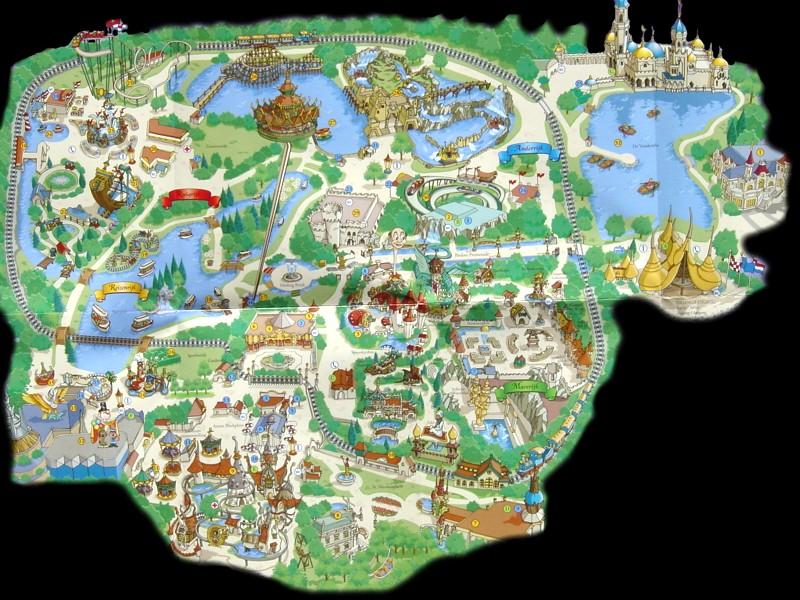 Parkmaps Parkplan Plattegrond Efteling Freizeitpark Welt De