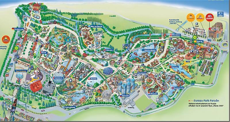 Europa Park Karte.Theme Park Review Park Size