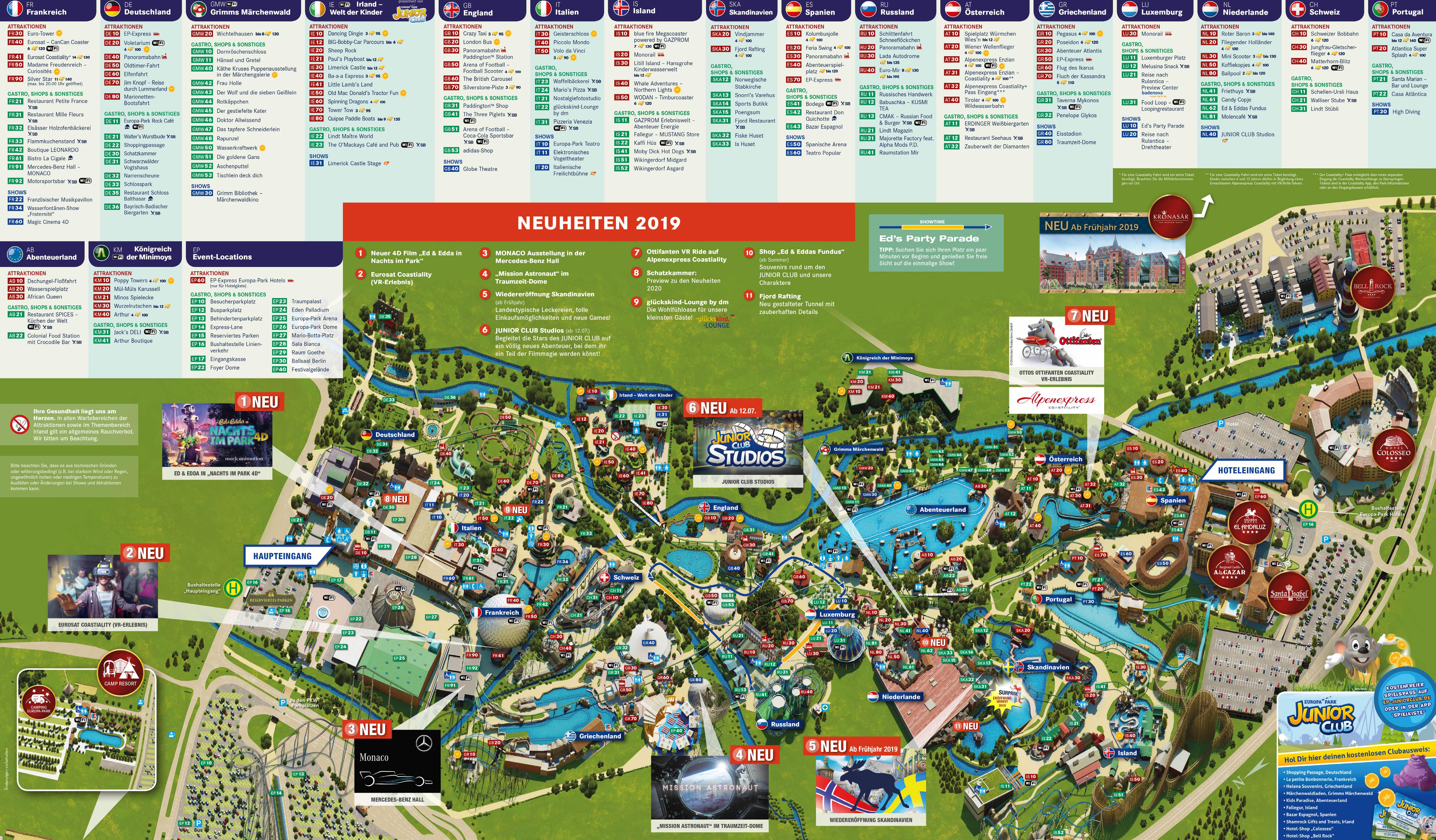 Phantasialand Park Karte.Phantasialand Karte 2019