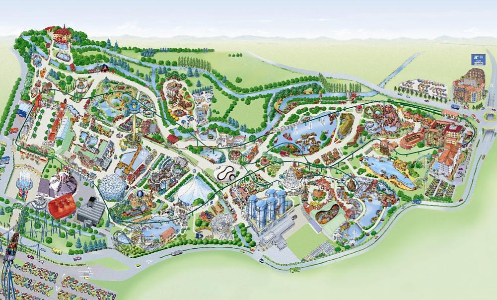 Parkmaps / Parkplan   Europa Park   Freizeitpark Welt.de