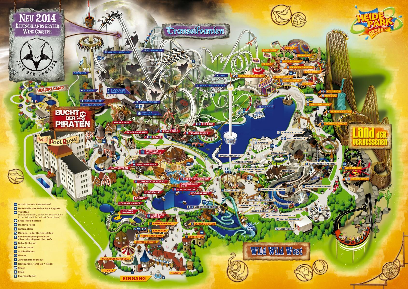 heide park karte Parkmaps / Parkplan   Heide Park Resort   Freizeitpark Welt.de