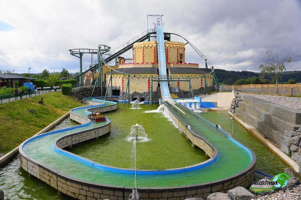 Wildwasserbahn 'Zum Rittersturz' im Wild- und Freizeitpark Klotten - 2020: Seit 2012 ergänzt die Wildwasserbahn