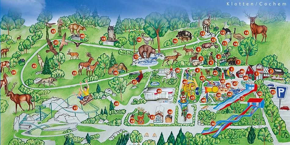 Parkmaps - Wild- und Freizeitpark Klotten - Freizeitpark-Welt.de