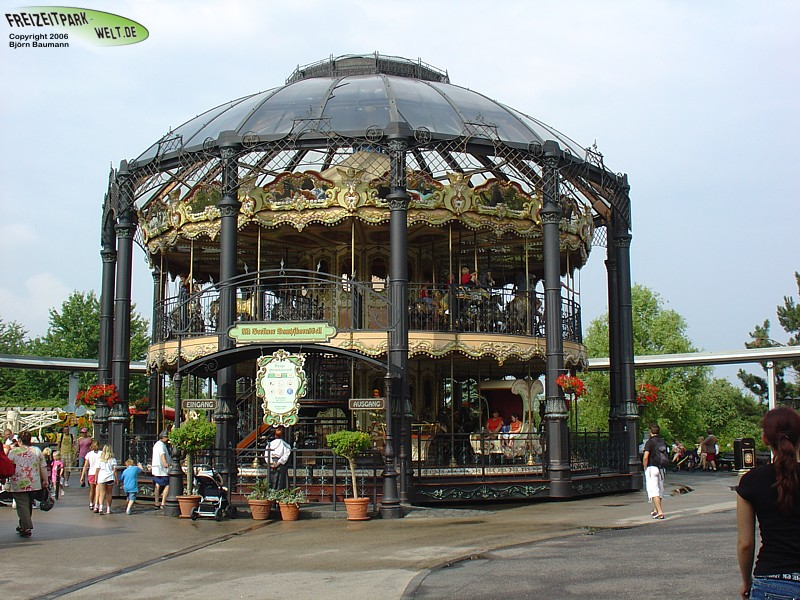 Alt Berliner Dampfkarussel Phantasialand Freizeitpark Welt De