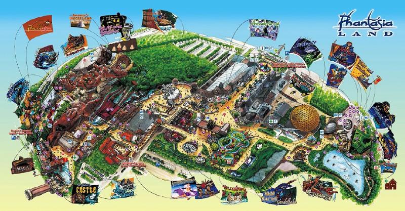 Phantasialand Park Karte.Parkmaps Parkplan Phantasialand Freizeitpark Welt De