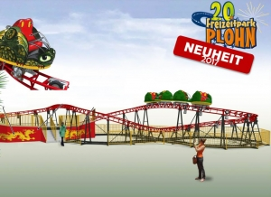 Spinning Coaster Drachenwirbel wird Neuheit 2017 im Freizeitpark Plohn