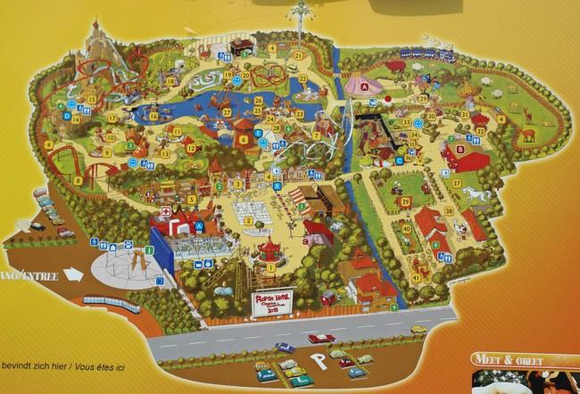 parkmap 2009 plopsaland de panne freizeitpark. Black Bedroom Furniture Sets. Home Design Ideas