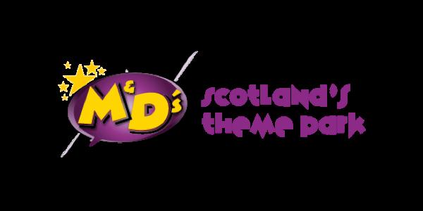 M & D's Scotlands Theme Park Logo
