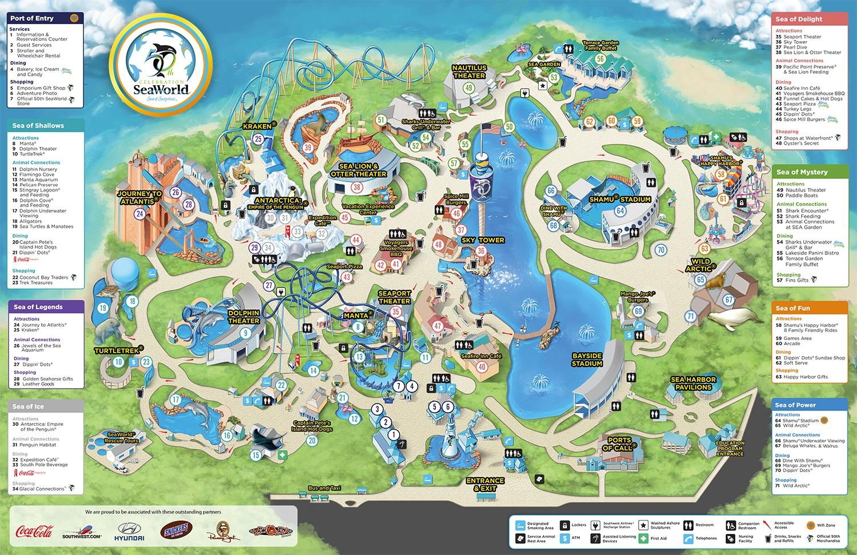Parkmaps Parkplan Seaworld Orlando Freizeitpark Welt De
