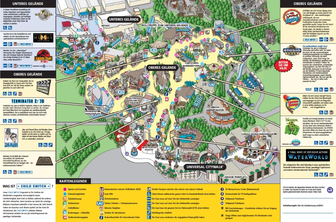 Parkmaps / Parkplan - Universal Studios Hollywood ...