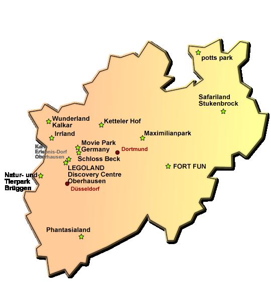 Freizeitparks in Nordrhein-Westfalen (NRW)