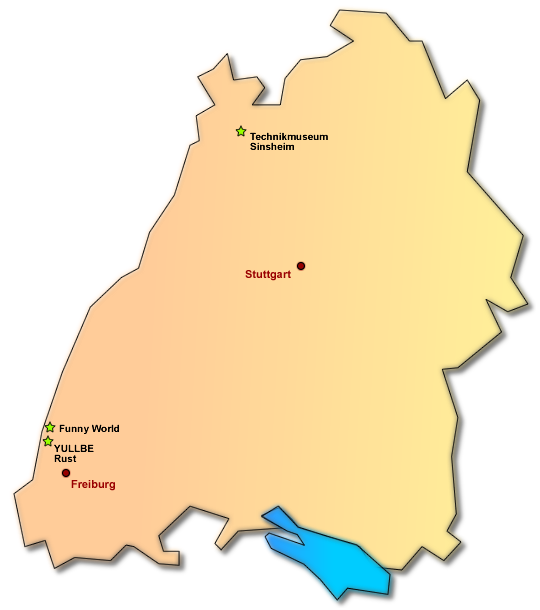 Hallenspielplätze in Baden-Württemberg