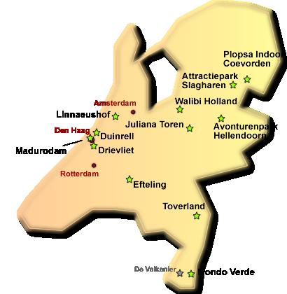 Niederlande Karte Welt.Freizeitparks In Holland Niederlande Freizeitpark Welt De