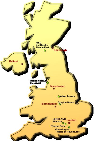 Freizeitparks In England