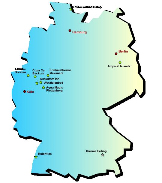 Wasserparks in Deutschland