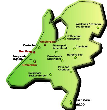 Niederlande Karte Welt.Tierparks Zoos In Holland Freizeitpark Welt De