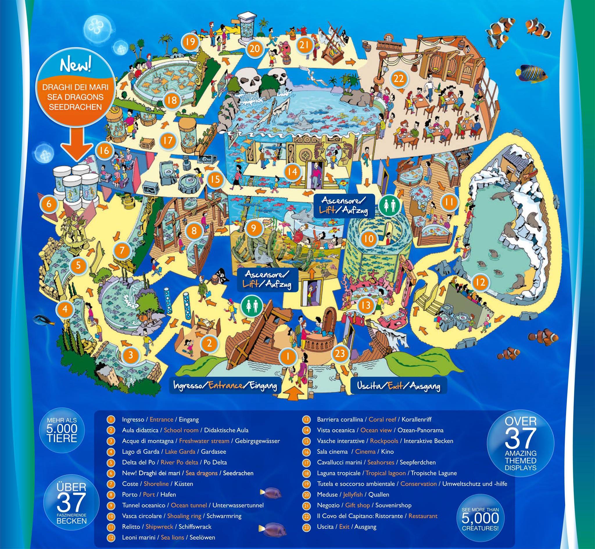 Startseite > Zoos > Italien > Gardaland SEA LIFE > Parkmap 2012