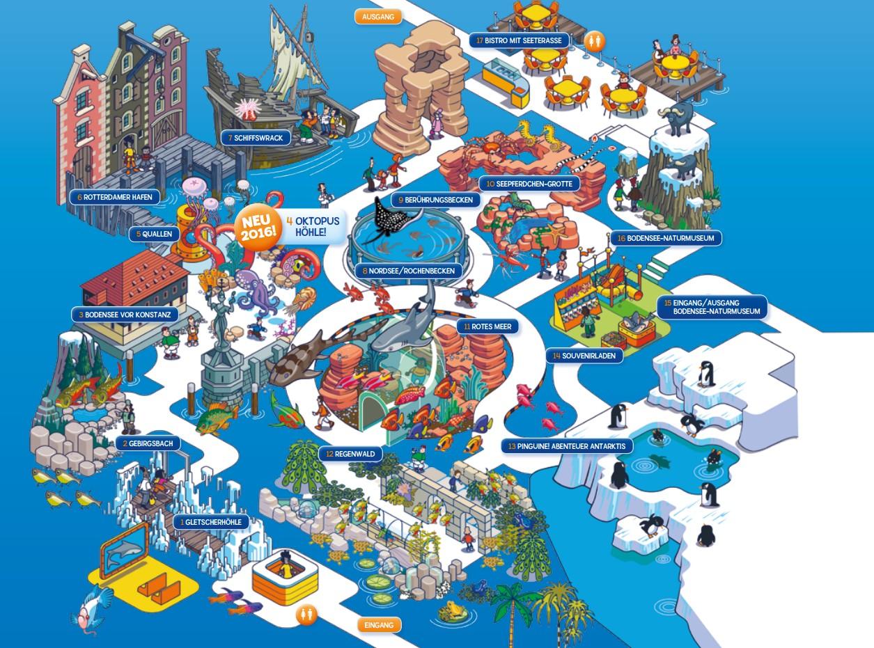 Parkmaps / Parkplan - SEA LIFE Konstanz - Freizeitpark-Welt.de