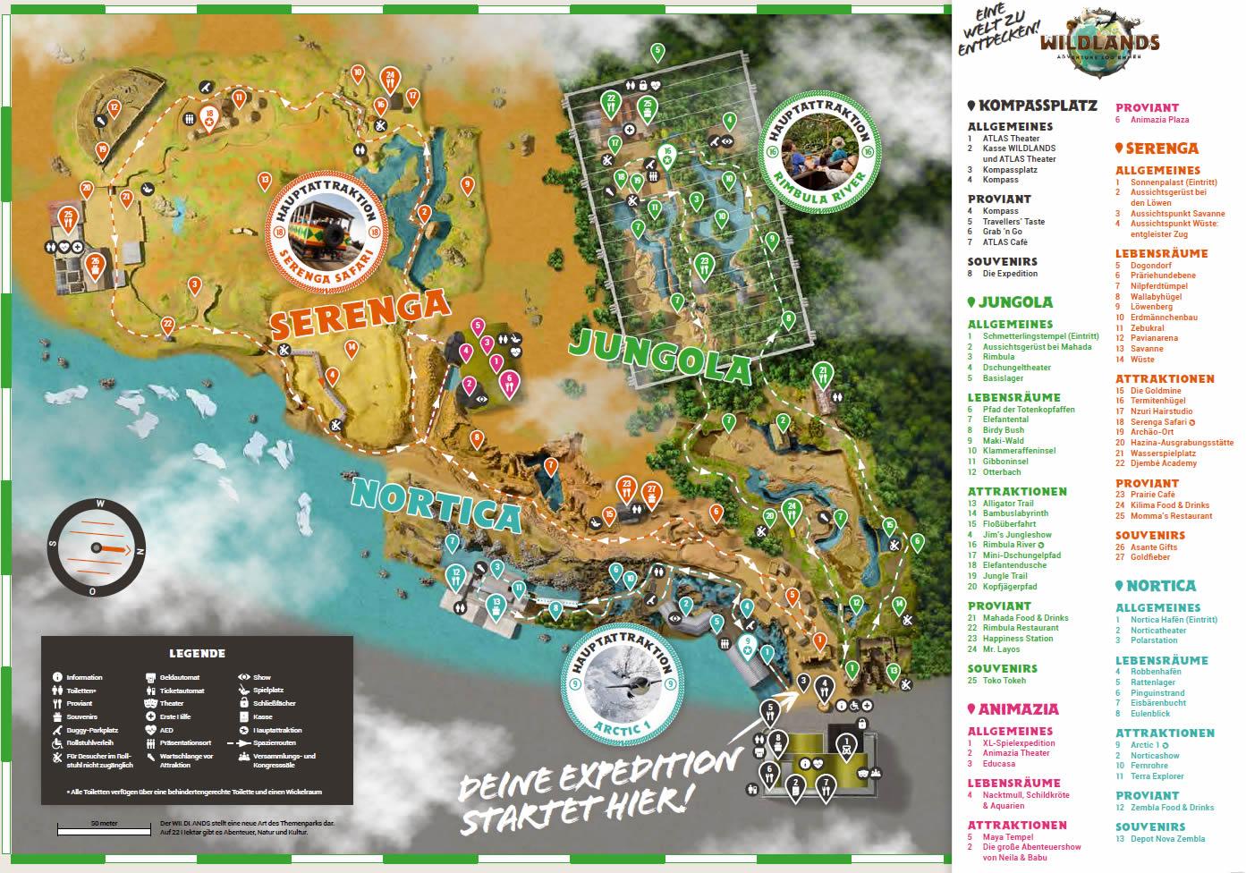 zoo holland karte Parkmaps / Parkplan / Plattegrond   Wildlands Adventure Zoo Emmen