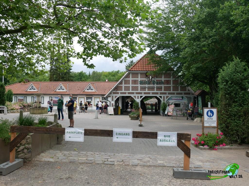 Wildpark Lüneburger Heide - 2020: Der schöne Eingangsbereich vom Wildpark Lüneburger Heide