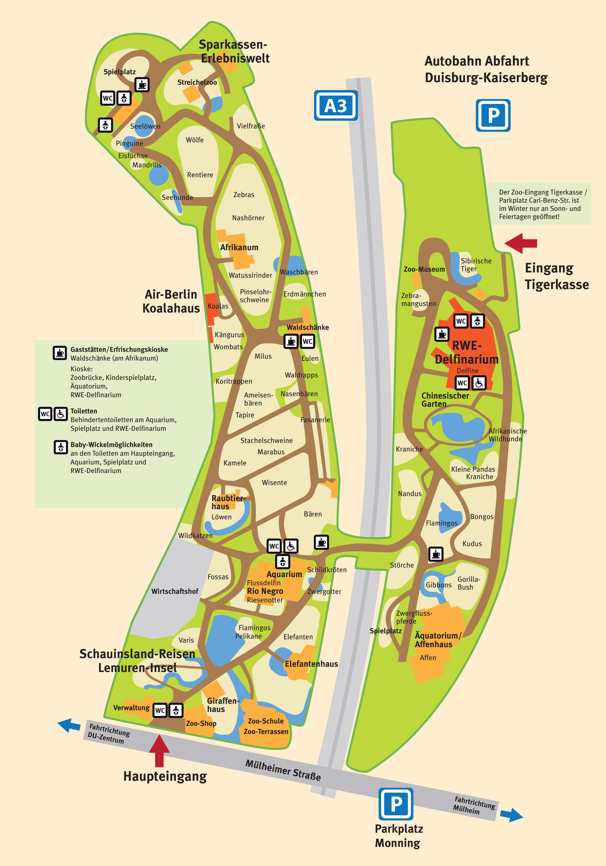 parkmaps parkplan zoo duisburg freizeitpark. Black Bedroom Furniture Sets. Home Design Ideas